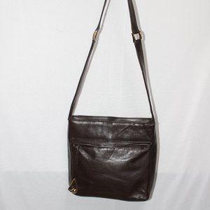 Vittoria Pacini Italian Brown Soft Leather Bag
